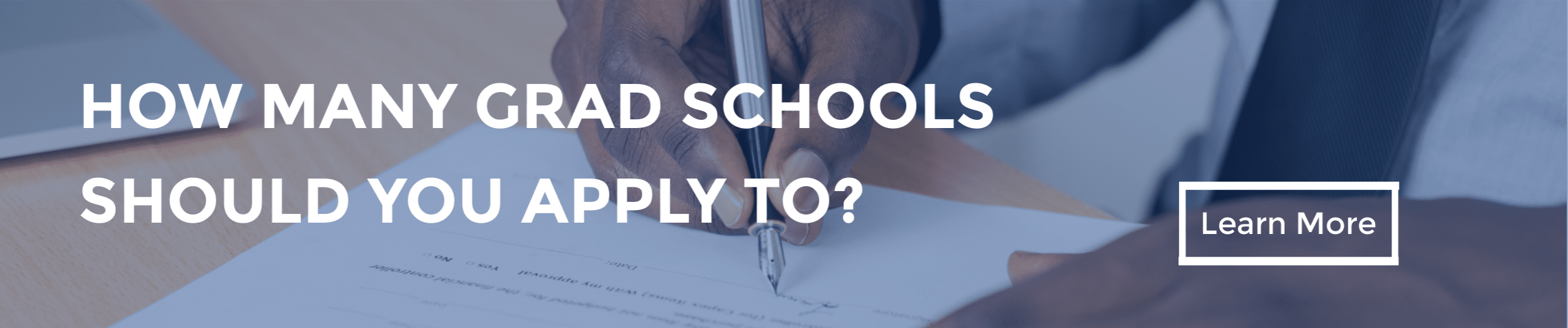 How Many Grad Schools Should You Apply to?