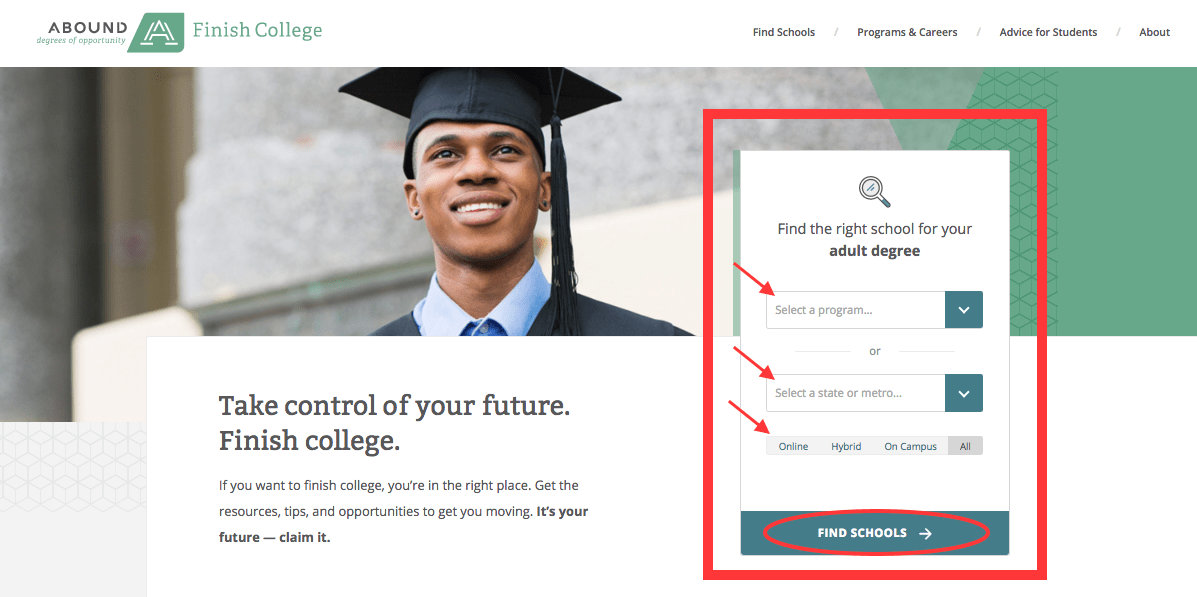 How to Pick a School on Abound Finish College - Abound: Finish College